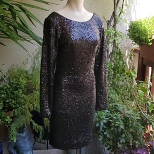Sequin black dress M